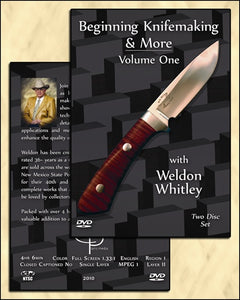 DVD BEGINNING KNIFEMAKING & MORE BY WELDON WHITLEY