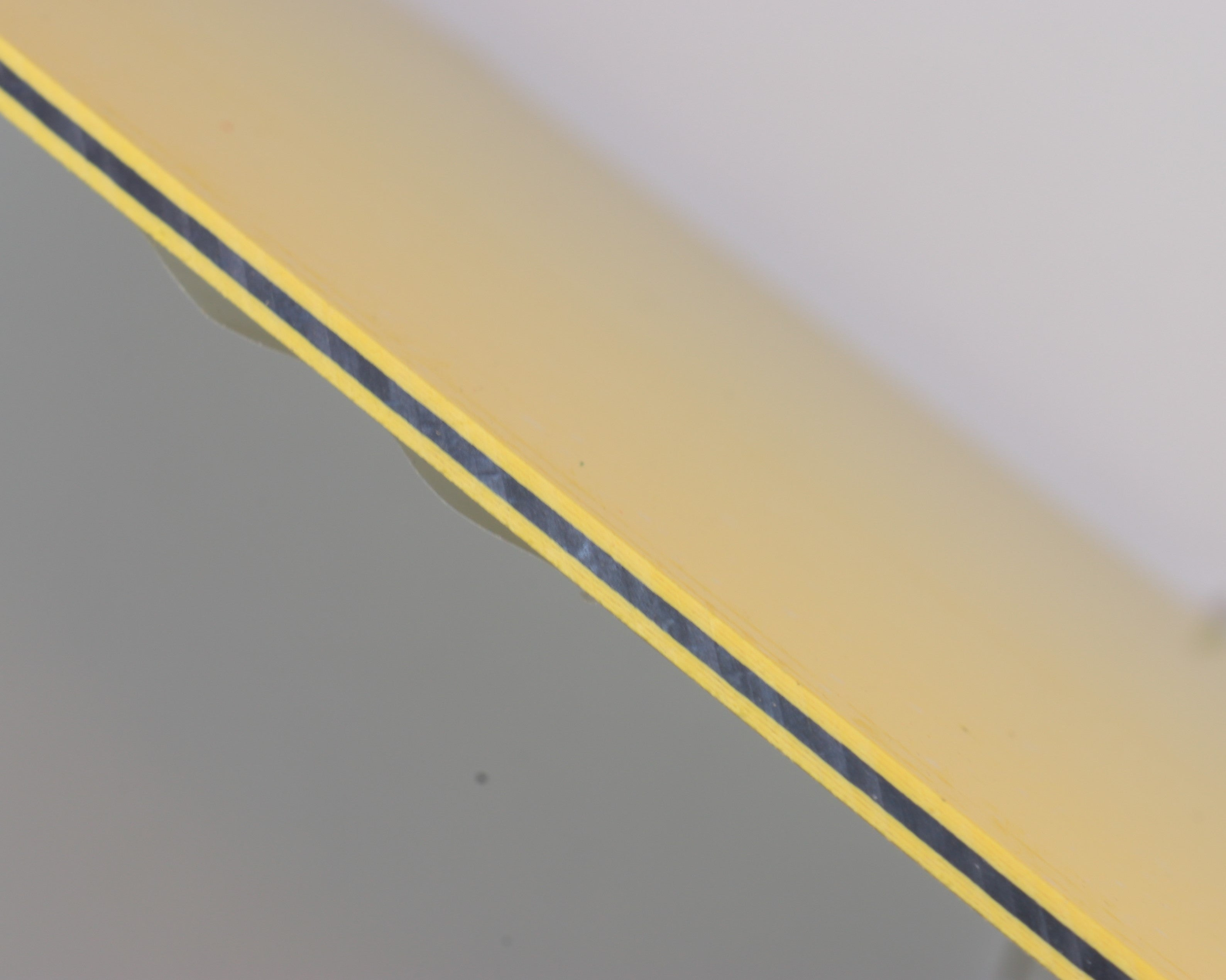 3 LAYER SPACER YELLOW-BLACK-YELLOW .100 X 6 X 12
