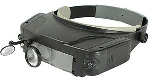 HEAD MAGNIFIER WITH LIGHT AND MIRROR