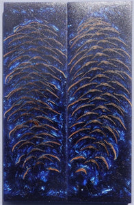 "RESIN SPRUCE CONE SCALES 3/8"" x 1 1/2"" x 5"" BLUE"