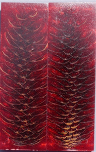 "RESIN SPRUCE CONE SCALES 3/8"" x 1 1/2"" x 5"" RED"