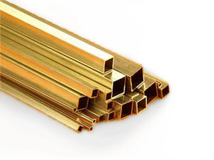 "Brass Tube Square 1/4"" sq"