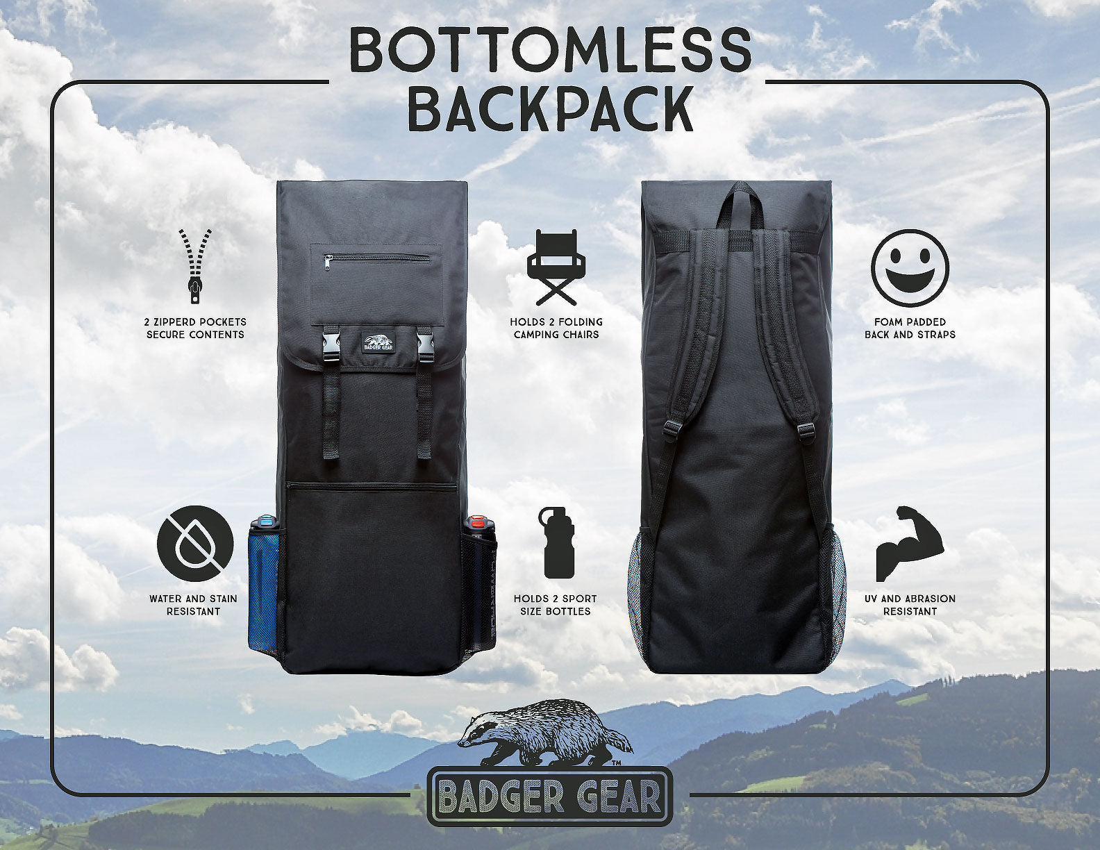 bottomless backpack