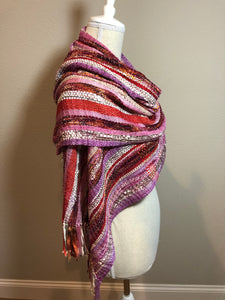 Handwoven red scarf