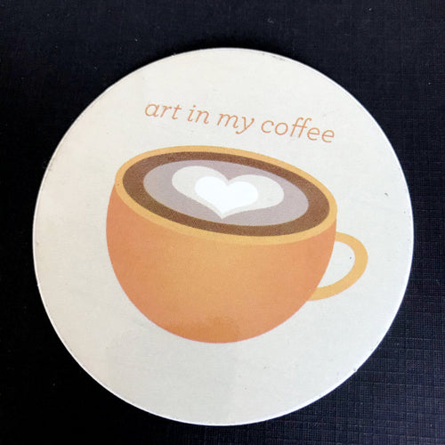 Art in My Coffee sticker