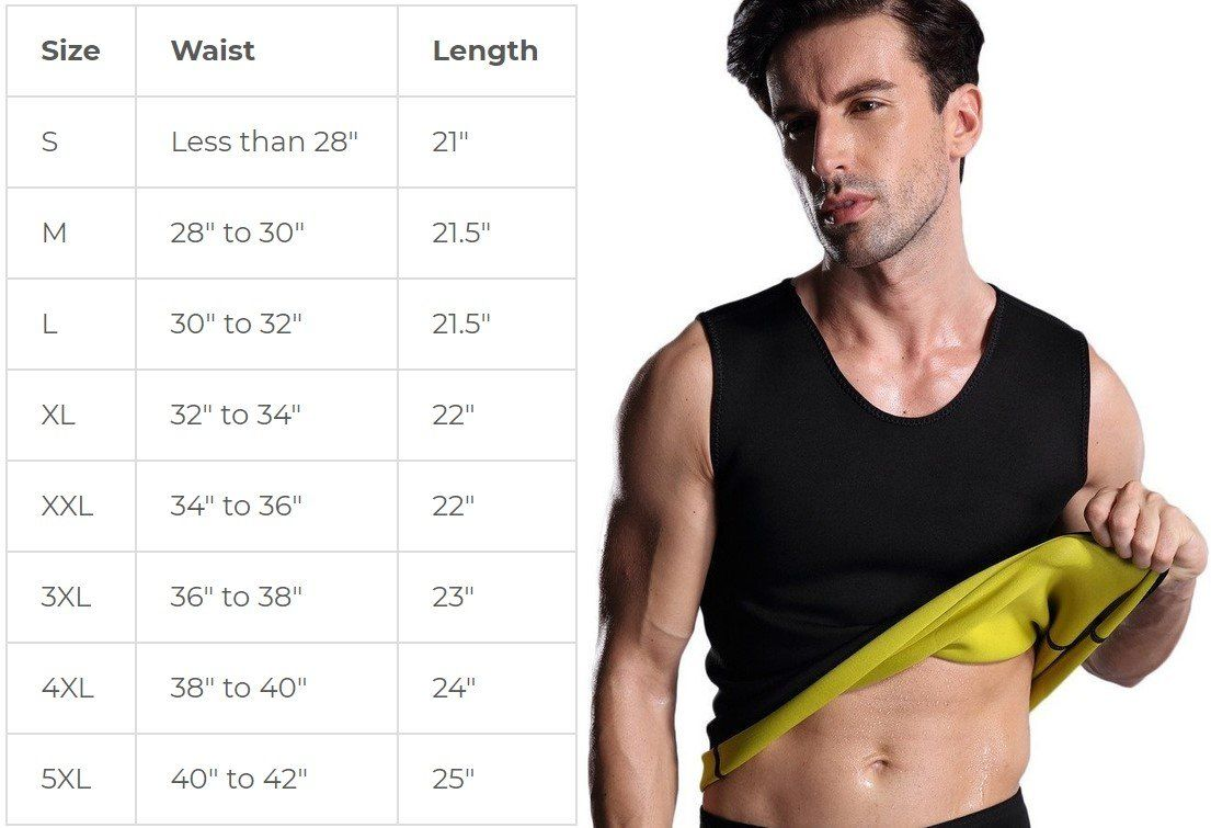 Men Sauna Waist Trainer Vest Body Fat Burn Ab Hot Shaper