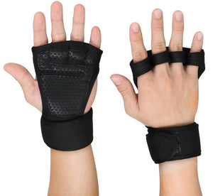 Weight Lifting Grip Pad Straps Fitness Workout Gloves Wrist Wrap - StabilityPro™