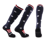 American Flag Compression Socks - 20-30 mmHg Support for Swelling & Energy Boost!