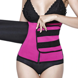 Neoprene Waist Trainer - Velcro Compression Straps ~ with Supportive Zipper!