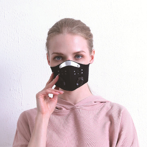 Women's Velcro Face Mask - With Breathing Valve & No Ear Tugging