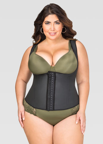 Plus Size 3 Hook Waist Trainer ~ Posture Improving Cincher!