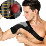 Shoulder Compression Brace Support Strap ~ With Ice/Hot Pack Holder