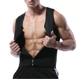 Men's Waist Training Zippered Sauna Vest - Burn Fat & Tone Up Fast!