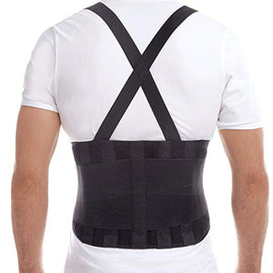 Back Brace with Suspenders - Lumbar Support ~ Improved Posture!