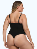 Sexy Plus Size Zip Thong Bodysuit Waist & Stomach Shaper