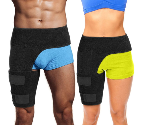 Hip and Lower Back Brace - Compression Support ~ Pain Relief!