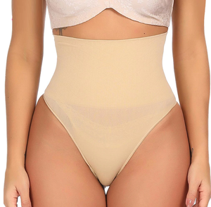High Waist Body Shaper Thong - Tummy Control Compression Panties
