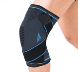 Knee Brace Compression Sleeve with Stabilizer Straps Meniscus Patella Support