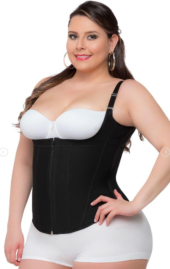Plus Size Waist Trainer - 3 Hook Cincher with Supportive Zipper!