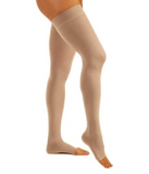 Open Toe Thigh High Compression Socks - 30-40 mmHg Support Stockings