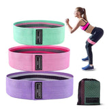 Fabric Booty Band Set - 3 Levels of Resistance - Grow Your Glutes!