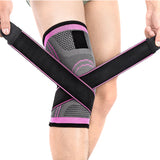 Knee Brace Compression Sleeve with Patella Stability Straps