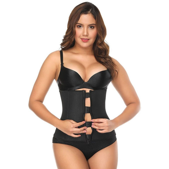 Plus Size Clip & Zip Waist Trainer - Triple Hook and Zippered Body Shaper!