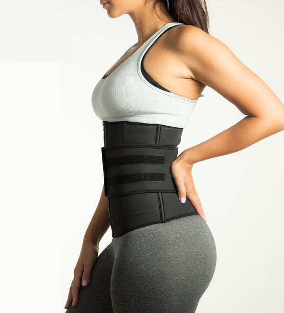 Lux Waist Trainer - Velcro Compression Straps ~ with Supportive Zipper!