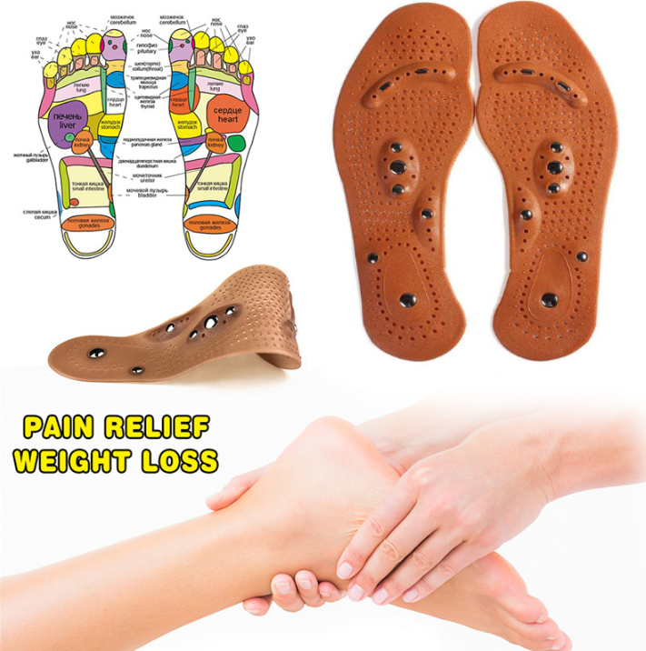 Acupressure Insole Magnetic Reflexology for Weight Loss ...