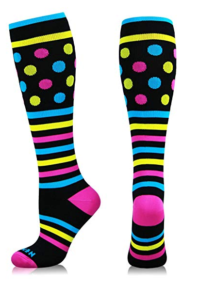 4350d304d7440 Cute Design Compression Socks 20-30 mmHg for Circulation, Swelling & Energy