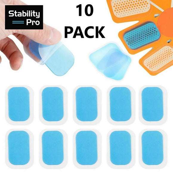 Replacement Gel Pads 10 Pack for Electric Abs Muscle Stimulator Devices