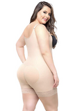 Plus Size Full Body Shaper with Zipper - Slimming Bodysuit with Butt Lifter