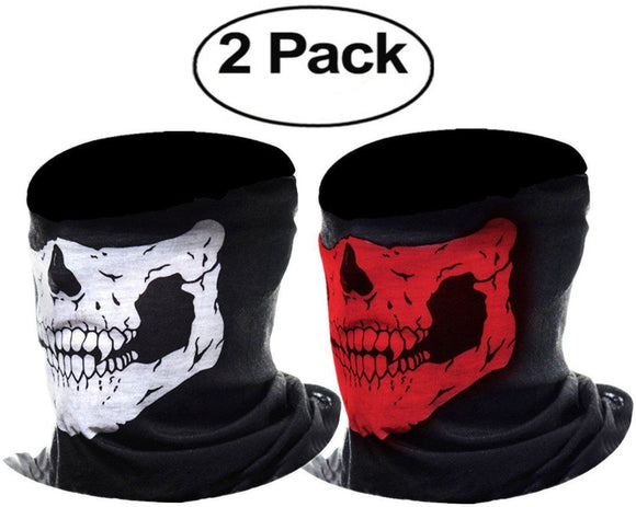 Skull Face Mask Tactical Balaclava Motorcycle Bike Ski Bandana - StabilityPro™