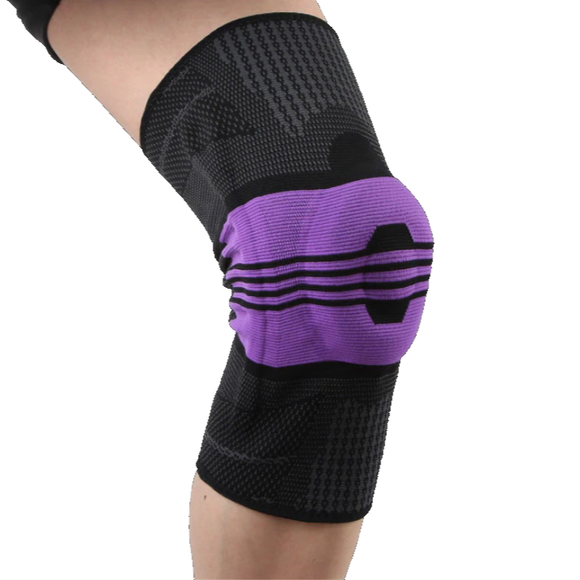 Compression Knee Sleeve Brace with Silicone Patella Stabilizer Support