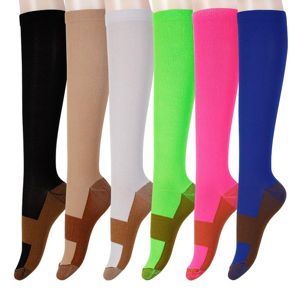 bd7b21ba09 Copper Infused Compression Socks Graduated Knee High Leg Support Stockings  - StabilityPro™
