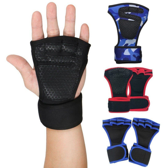 Dam Pro Gel Weight Lifting Gloves Gym Body Building Gloves: Fitness Weight Training Wrist Wrap Support Power Lifting