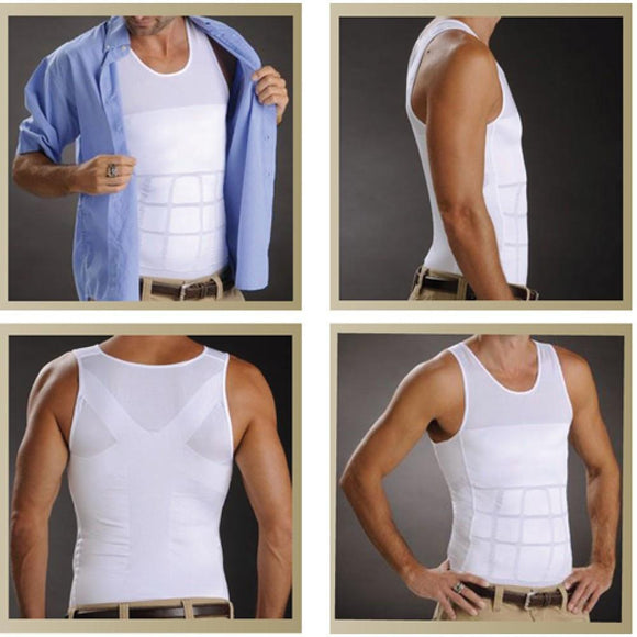 Compression Body Shaper Slimming Tank Top Shirt - Ab Belly Trim Undershirt Vest - StabilityPro™