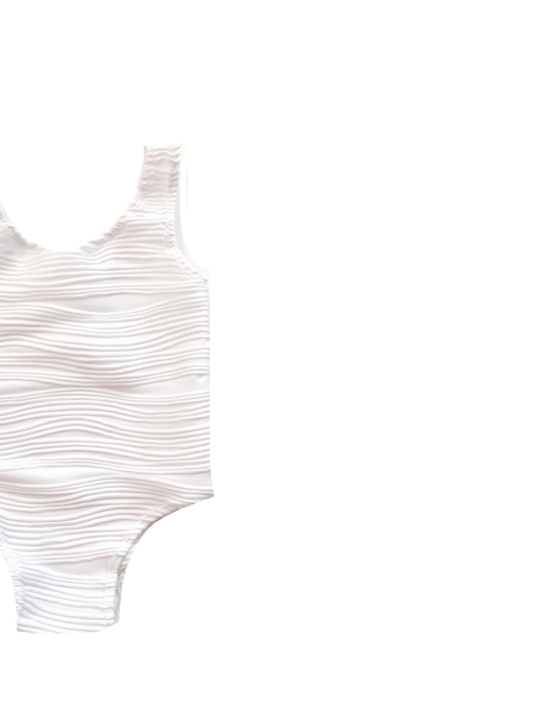 White Embossed Leotard