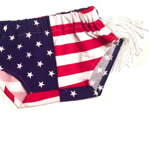 Stars and Stripes POM/FRINGE Shorties