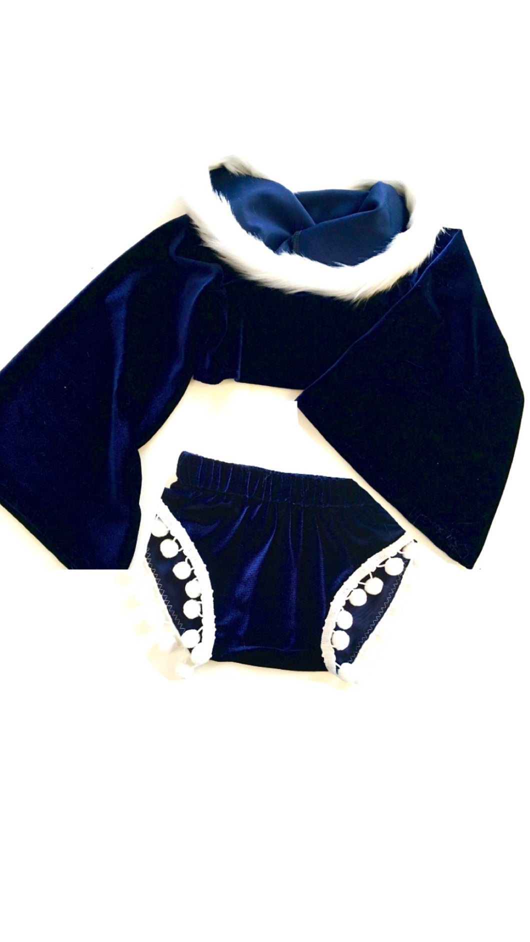 XMAS ORDERS CLOSED Navy Velvet Chic Set