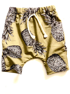 Pineapple Beach Bum Pocketed Harem Shorts