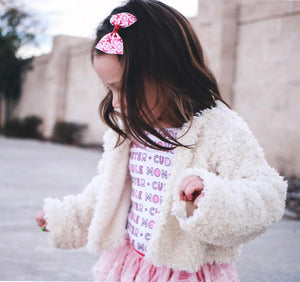 Little Lamb Cropped Fur Jacket