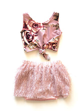 Mauve-lous Feather Shortie-Skirt