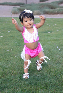 Pink Tribal Fringe Set