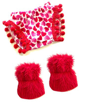 Valentine's Heart Pom Shorties