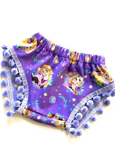Rapunzel Tangled Pom Shorties