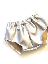 Faux Silver Leatherette Shorties