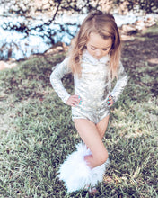 Let it Snow Fur-Trimmed Hooded Velvet Leotard
