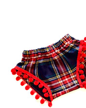 Mad About Plaid Pom Shorties