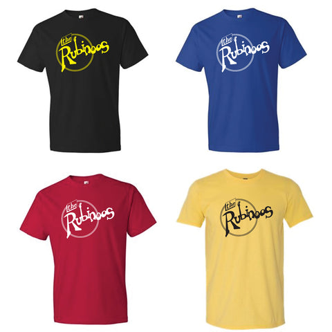 Rubinoos T-shirt in black, blue, red, and yellow